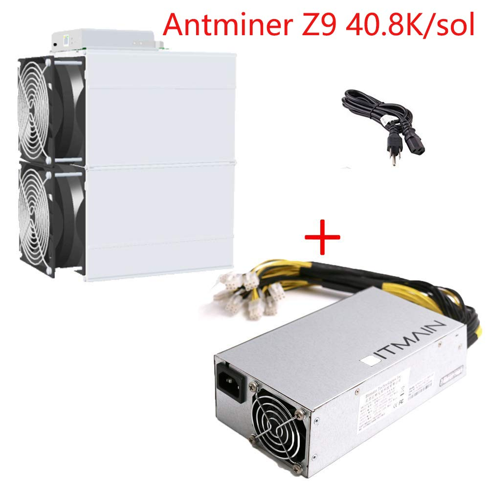 AntMiner Bitmain Z9 Mini 10k Sol/s Equihash Make About $14 one Day inlcude APW3++ and Power Cord