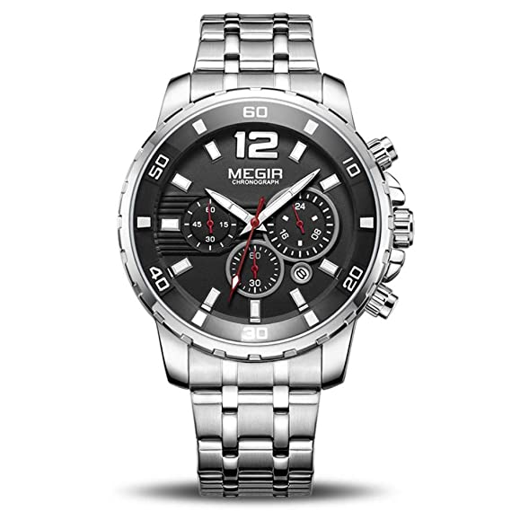 Mens Wrist Watches Luxury Business Wrist Watch Men Brand Stainless Steel Chronograph Quartz Mens Watches Clock