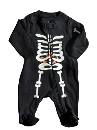 faded glory infant boys girls skeleton sleeper baby halloween pajamas pjs