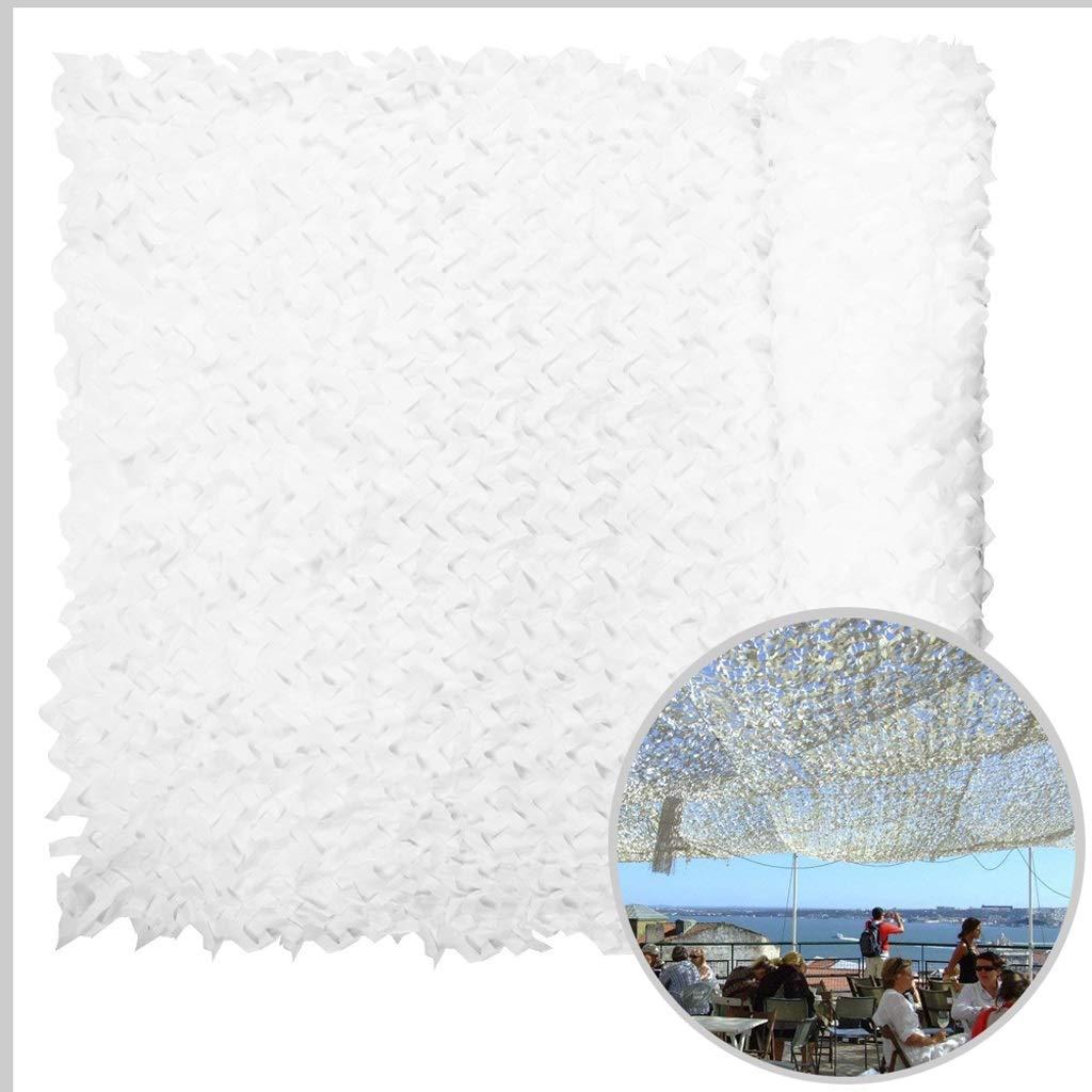 410M Filet de Camouflage Blanc Renforcé Militaire Pergola Filet Para-Solaire Filet d Ombrage pour la Chasse Militaire L'armée Tente Jardin Décoration Cache Voiture 3m 4m 5m 6m 8m 10m Auvents Terrasse