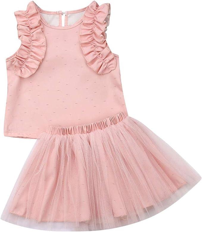 Juegos de Faldas para bebés, 2pcs Vestidos de Tul Vestidos de ...