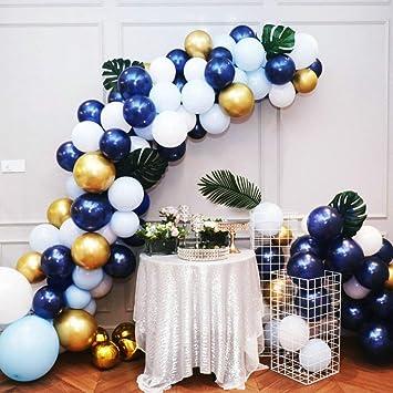 Amazon.com: Globos de color azul marino y dorado, 56 piezas ...