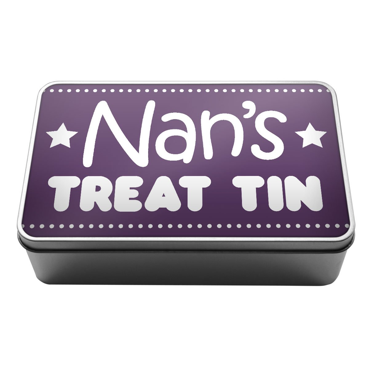 Purple Nan's Treat Tin biscuits chocolate gift idea Metal Storage Tin Box A012 Duke Gifts