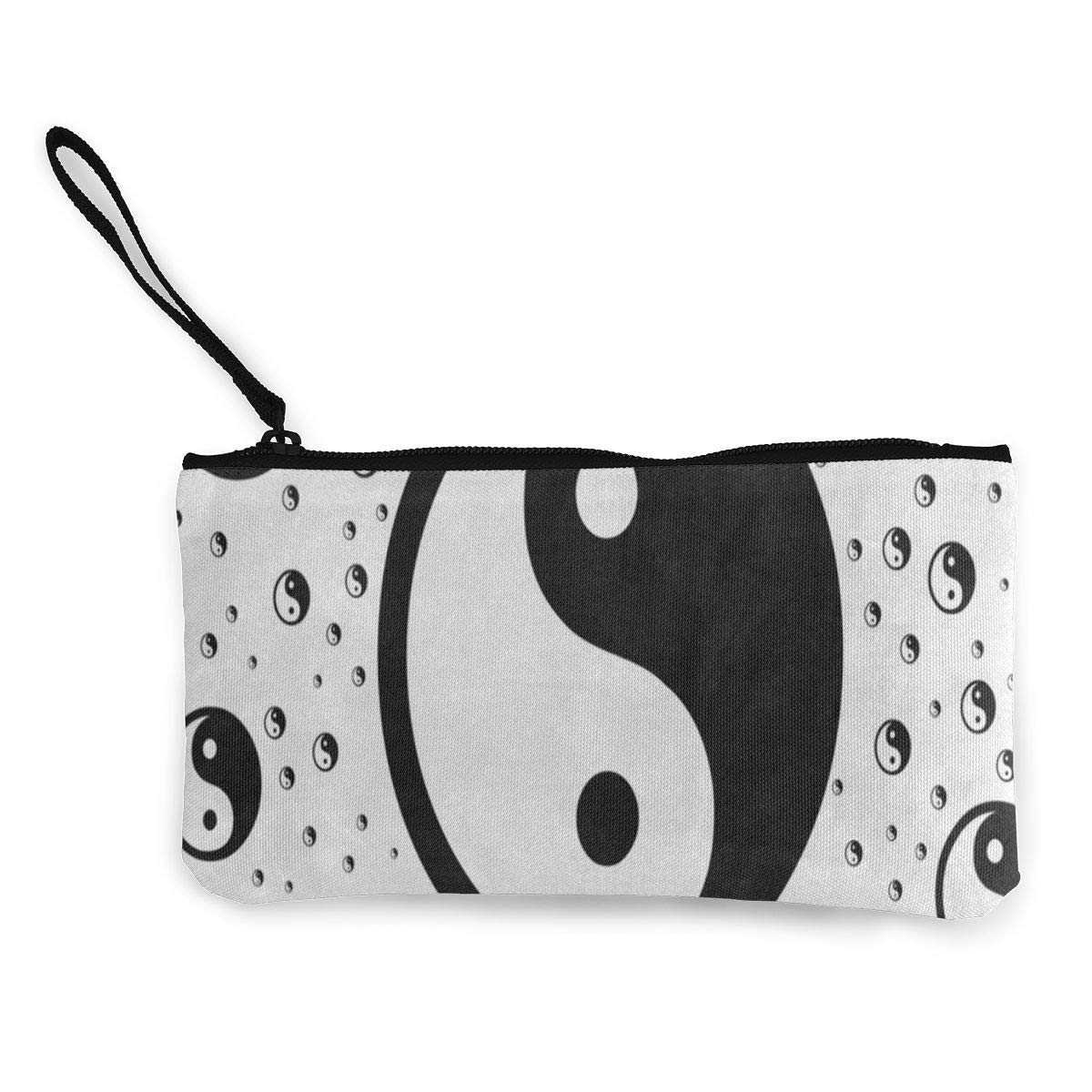 sd4r5y3hg Canvas Coin Purse Chinese Stylish Yin Yang Customs Zipper Pouch Wallet For Cash Bank Car Passport