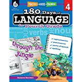 180 Days of Language for Fourth Grade – Build Grammar Skills and Boost Reading Comprehension Skills with this 4th Grade Workbook (180 Days of Practice)