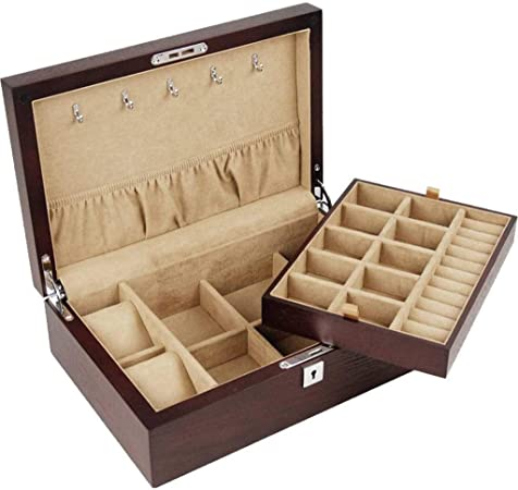 GOVD Caja para Relojes Madera Caja Joyero para Relojes, joyería, para Relojes A: Amazon.es: Hogar