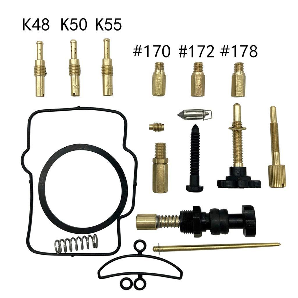 Runrain PWK36//38//40 Kit di Riparazione per carburatore Motore getti di Ricambio per Keihin