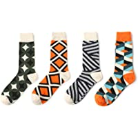 Men's Socks - Colorful Cotton Workout & Training Socks 4 Pairs