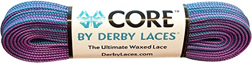 Derby Laces CORE Narrow 6mm Waxed Lace for Figure Skates, Roller Skates, Boots, and Regular Shoes