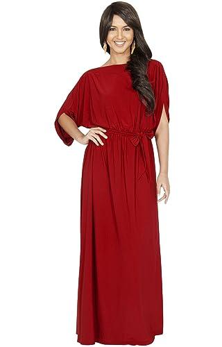 KOH KOH Da Donna Maxi abito formale casual da sera a manica lunga Vestiti