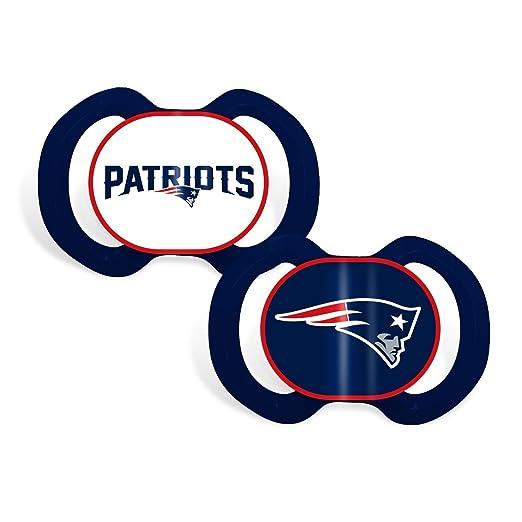 Amazon.com: New England Patriots – paquete de 2 chupetes ...