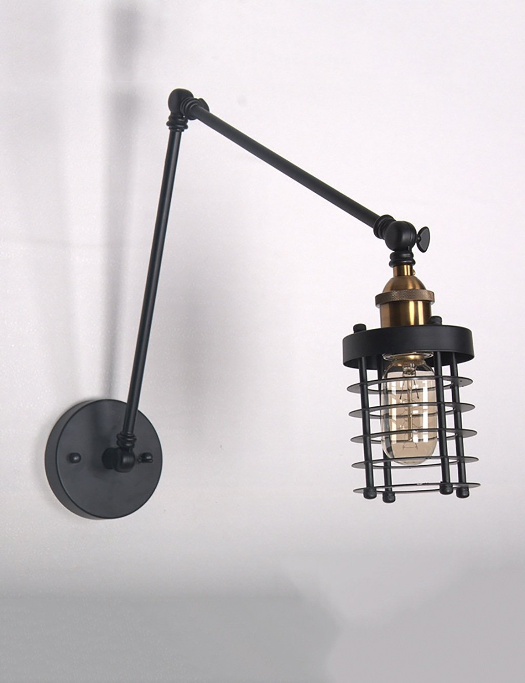YYF Wandlampe Europäische Retro-Eisen-Wand-Lampe Nachttischlampen-Wohnzimmer-Studie-Restaurant-Balkon-Portal-Wand-Lampe