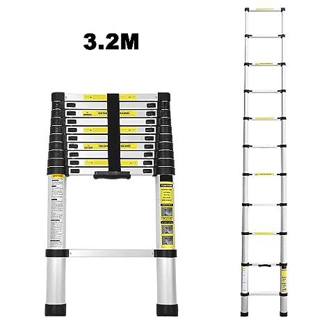 Alu Teleskopleiter Multifunktionsleiter Klappleiter Anlegeleiter Stehleiter 2-5M