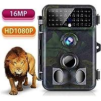 Wildlife kamera 16MP 1080P HD Tvird Beutekameras mit 125°Weitwinkel Infrarote 20m Nachtsicht, 42 IR LEDs, Wasserdichte IP66 Jagdkamera mit Bewegungsmelder zur Wildbeobachtung und Haussicherheit