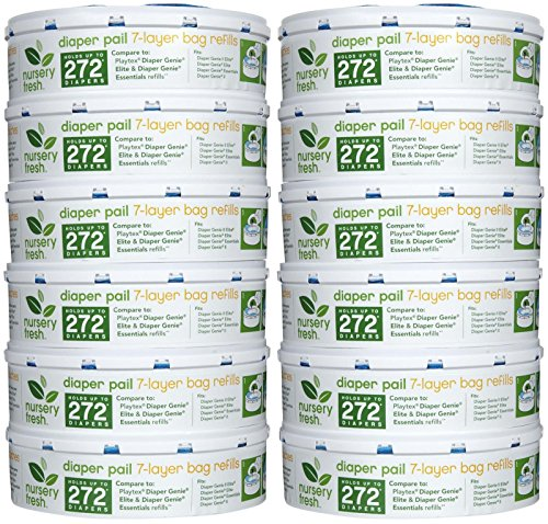 Munchkin Nursery Fresh Refill for Diaper Genie - 272 ct - 12