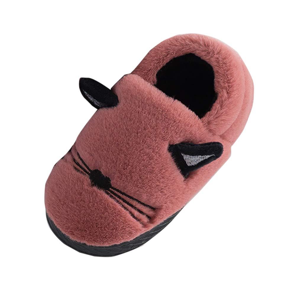 LaoZanA Pantoufles Peluche Chaussons Enfants Filles Garç ons Chaussures Chaudes Hiver Antidé rapant Chaussure
