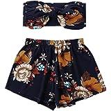 ❤️ Ropa de playa de las mujeres de dos piezas moda para mujer Sexy Impreso Tank Top chaleco + pantalones cortos pantalones de impresión floral ABsolute