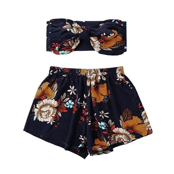 b16185e90b0d ❤️ Ropa de Playa de Las Mujeres de Dos Piezas Moda para Mujer Sexy Impreso  Tank Top Chaleco + Pantalones Cortos Pantalones de impresión Floral ...