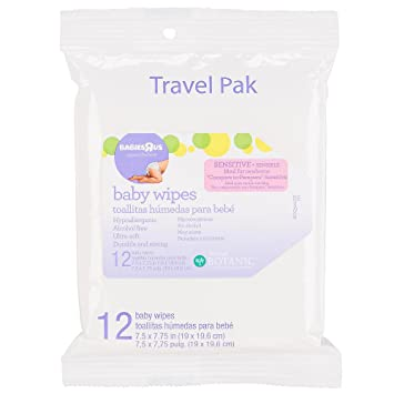 Babies R Us - Sensitive Unscented Baby Wipes Travel Pak 12 Count