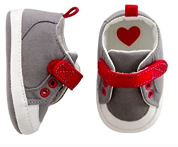 e04ade95548 Image Unavailable. Image not available for. Color  Carters Baby Boys  Sneaker Crib Shoe Grey 3-6 Months ...