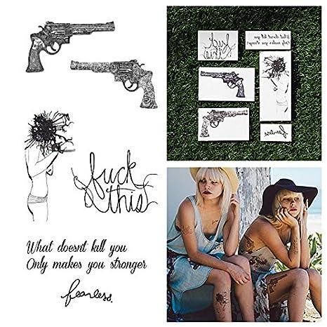 Tatuajes Temporales Tattify - Pistolas con frases - Grito de ...