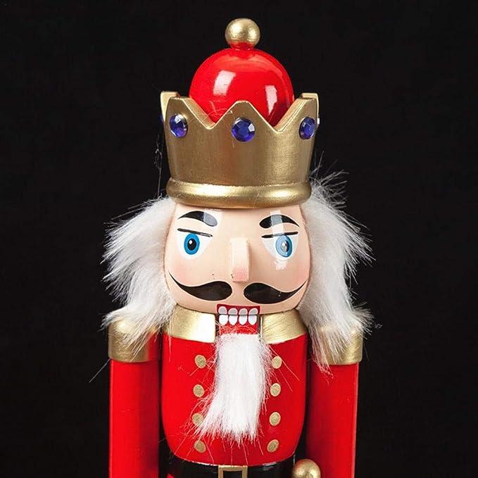 Casse-Noisette Noel 3pcs Ensemble Soldat Casse-Noisette en Bois De No/ël 30CM Nutcracker King Puppet Wooden Childrens Desktop Doll Ornament casse noisette figurine pour D/écoration de No/ël