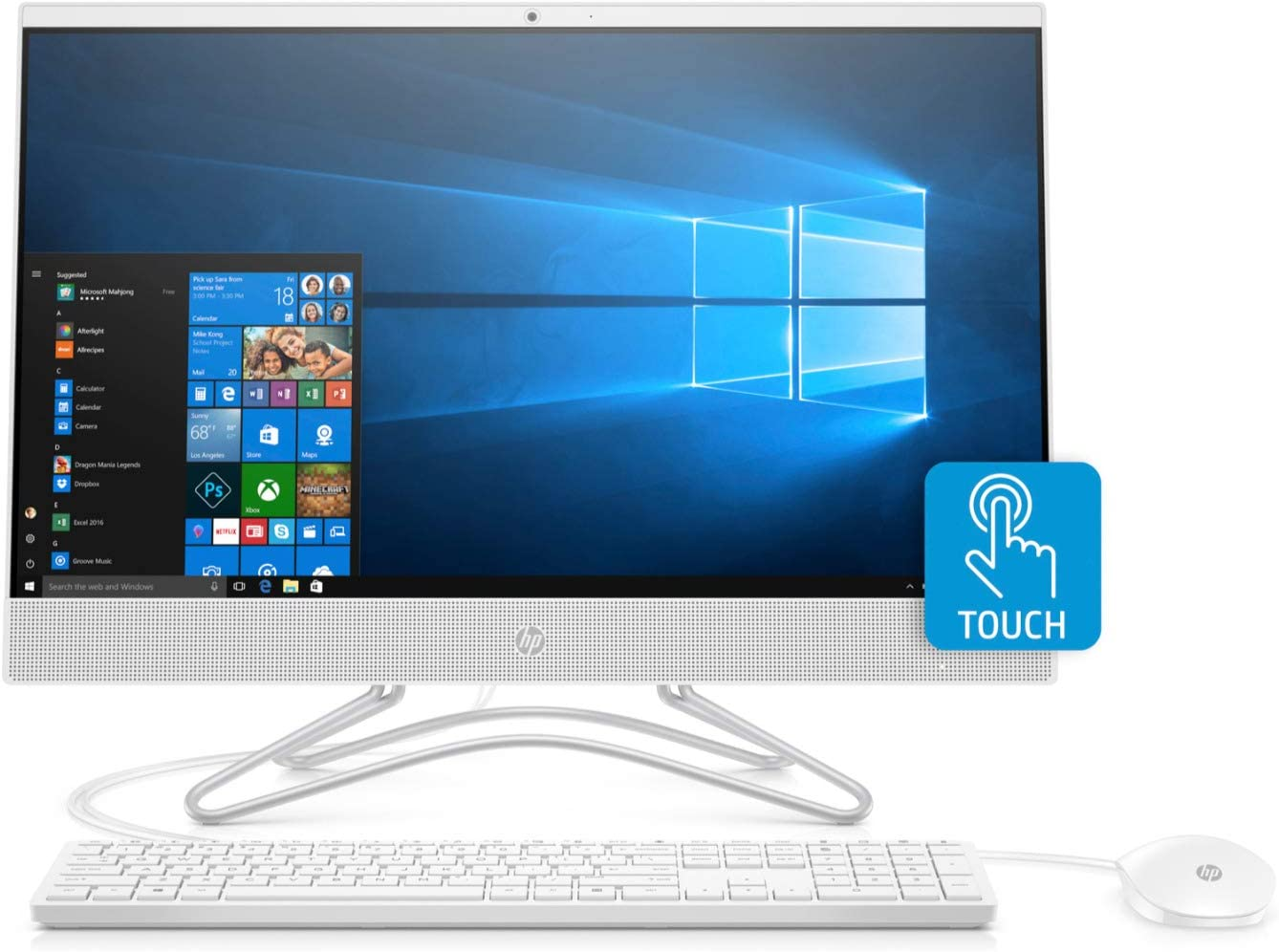 HP 24-F 23.8-Inch Full HD Touch Screen AMD A6 4GB 1TB HDD Win 10 All-in-One PC (Renewed)