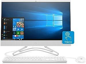 HP 24-F 23.8-Inch Full HD Touch Screen AMD A6 4GB 1TB HDD Win 10 All-in-One PC (Renewed)