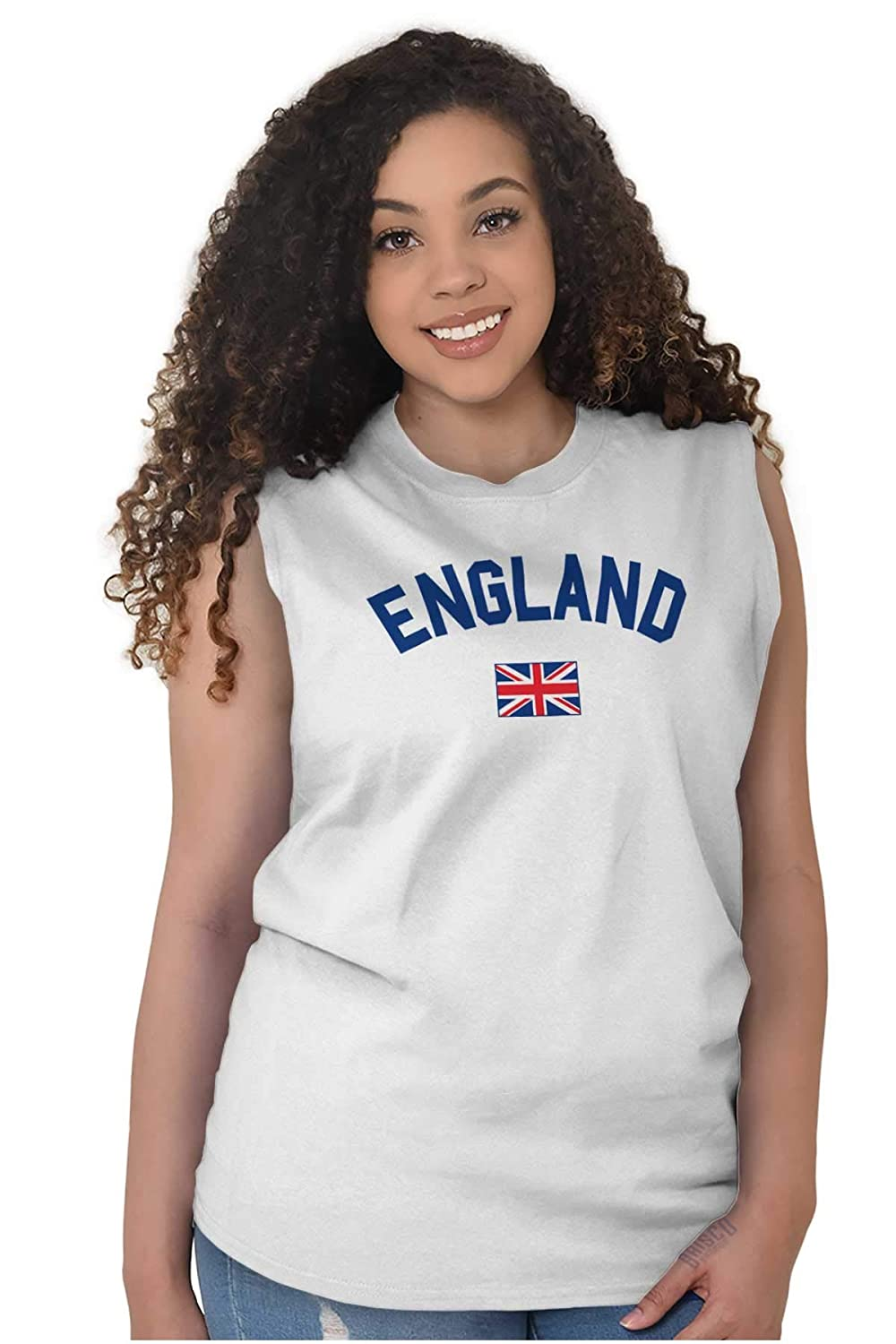 Brisco Brands England Country Flag Soccer Fan Pride Gift Sleeveless T Shirt