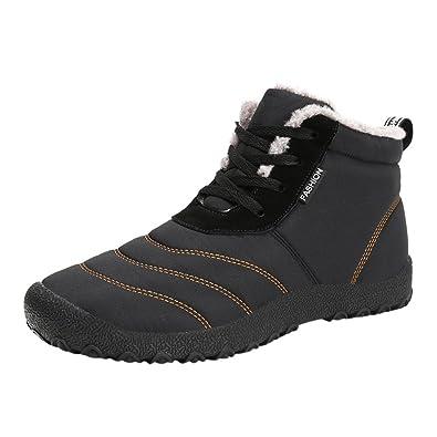 Moda Invierno otoño 2018 Hombre Botines Lace Up Zapatillas Impermeables Botas Martin Zapatos para Correr Aire Libre Deportes Running Respirable Low ...