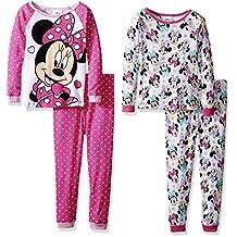 Disney girls Minnie Mouse 4-piece Cotton Pajama Set