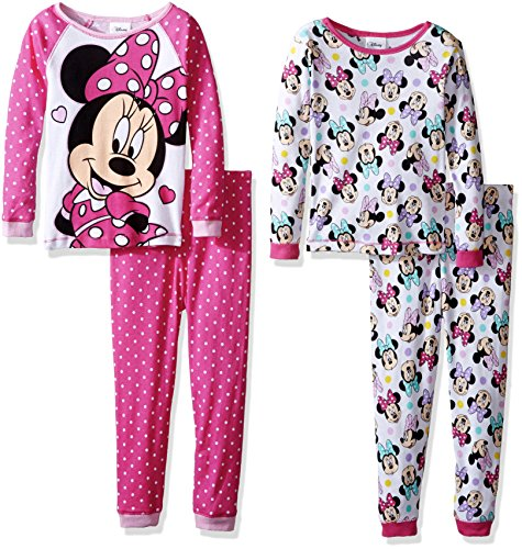 Minnie Mouse Toddler Girls Pink Printed 2pc Snug Fit Pajama Pant Set