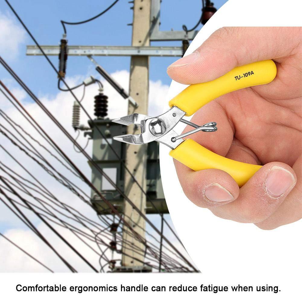 Alicates de cable 5 pulgadas alicates diagonales electr/ónicos Cable lateral Pinzas de corte Herramienta de cortador de alambre TU-109A