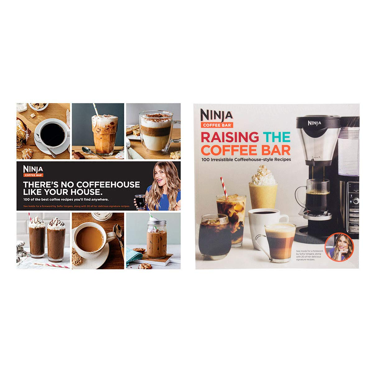Ninja 100レシピ 飲料&ドリンク クックブック コーヒーバーとメーカー用 (2冊)   B07KRN6WKN