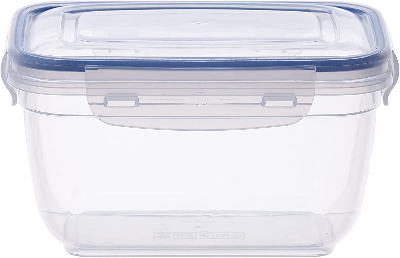Superio Food Storage Containers, Airtight Leak-Proof Meal Prep Containers, Microwave and freezer safe, BPA-free Plastic, Square Container, 2.5 oz.