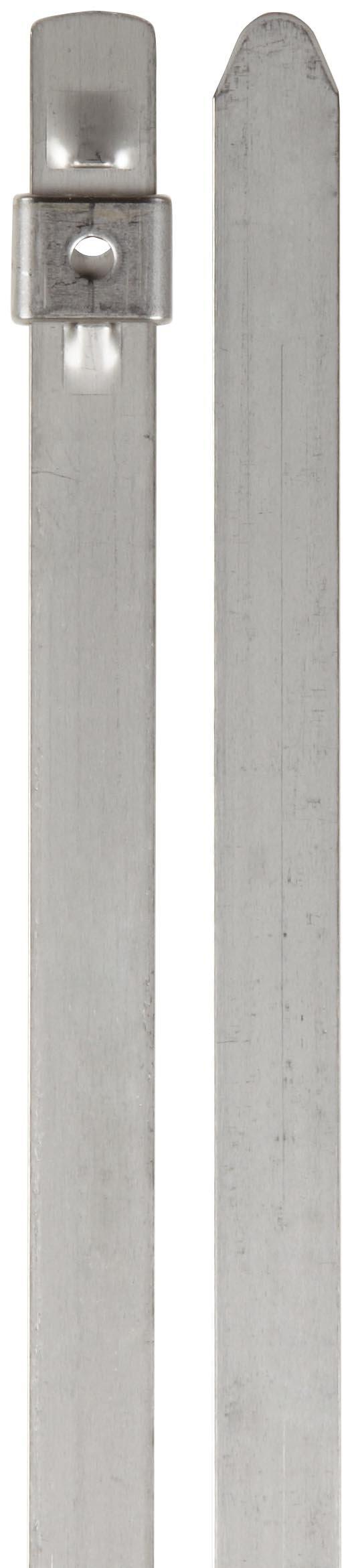 BAND-IT AS6239 Tie-Lok 304 Stainless Steel Cable Tie, 3/8'' Width, 17.5'' Length, 4'' Maximum Diameter, 100 per Bag