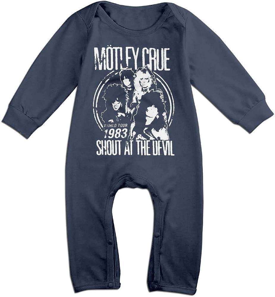 MIRHDUE Unisex-Baby Motley Crue Long Sleeve Romper Playsuit Cotton