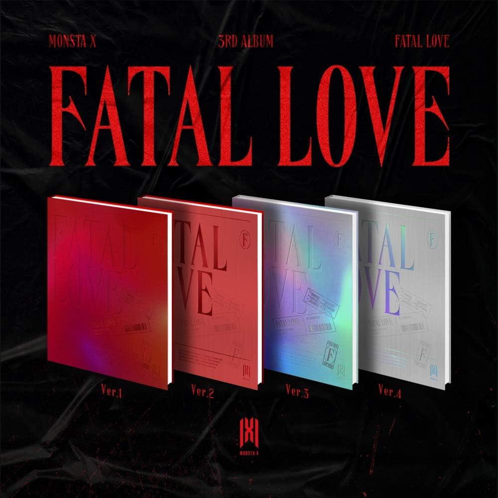 Starship Entertainment Monsta X FATAL Love (Vol.3) Album+Pre-Order Benefit + Póster Folded (4 ver.)