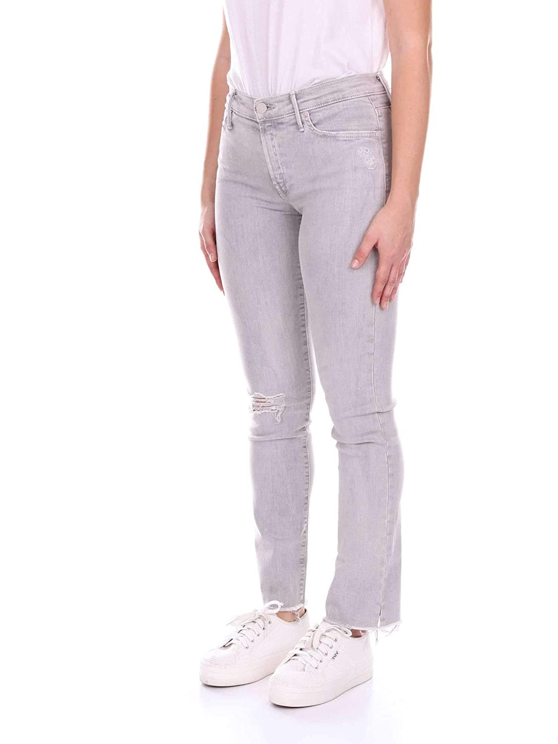 MOTHER Womens 1854352GREY Grey Cotton Jeans