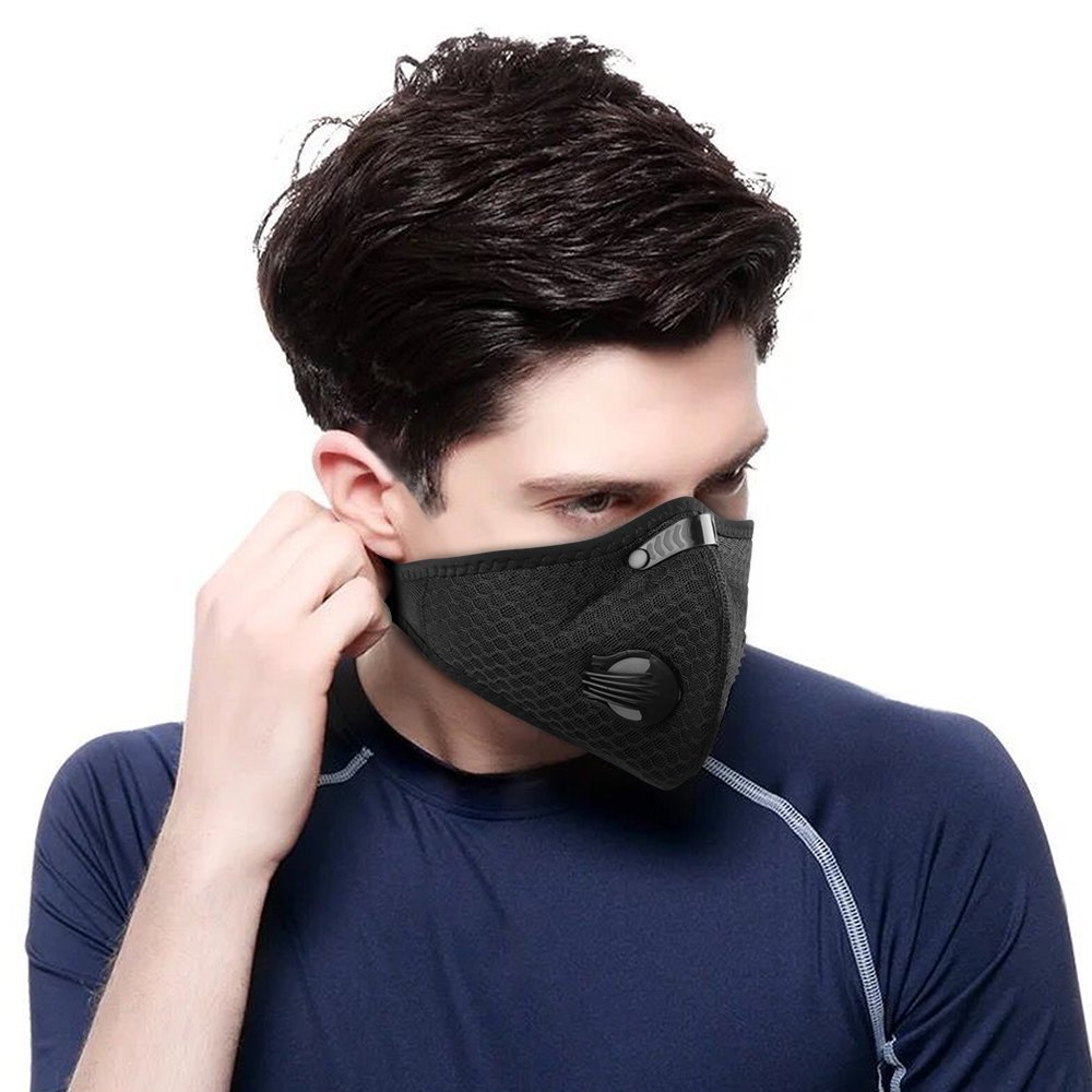 2pcs Dust mask Air Filter Mask Activated Carbon Dustproof Mask PM2.5 Dust Mask for Drywall, Construction, Sanding, Renovation, Running, Cycling and Other Outdoor Activities