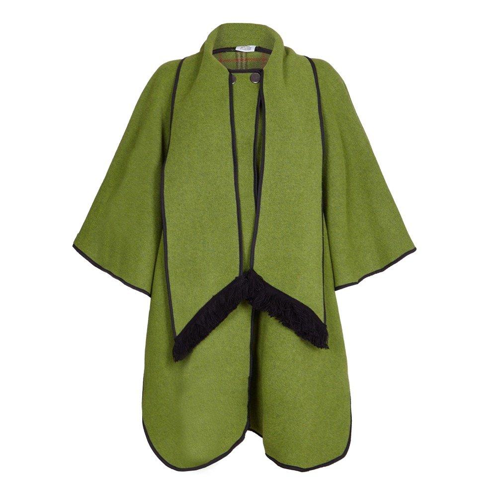 De La Creme - Women's Wool Reversible Poncho Cape, One Size Brown C10095-PARENT
