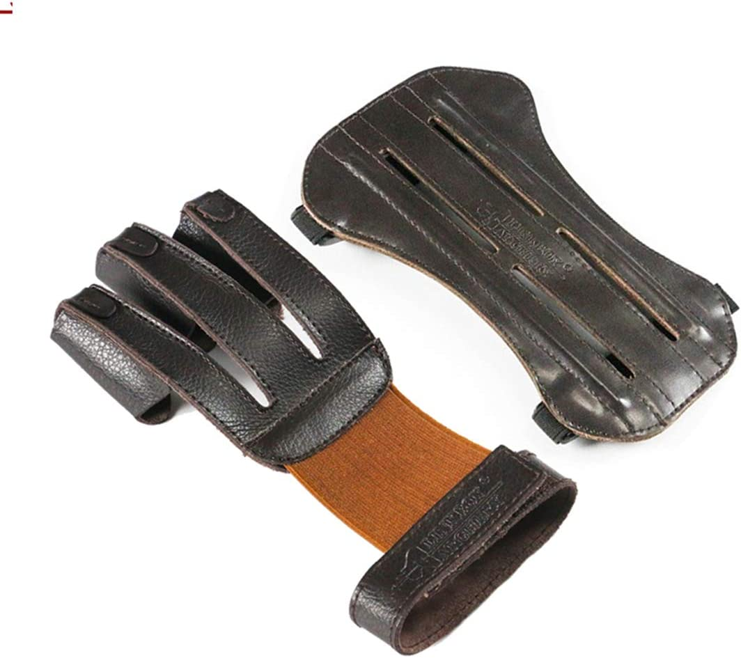 Archery Armguard Shooting Glove Guard Protecting Gear Brown