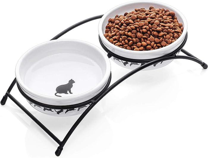 Updated 2021 – Top 10 Cat Food Bowl Paw Print