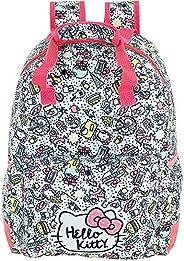 Mochila Hello Kitty T9 - 9056 - Artigo Escolar Hello Kitty, Branco
