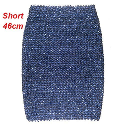 Girl Portefeuille Bureau Lady d'or Blue Dames Femme Courte Jupe Saia pour Mini Jupe Jupe Paillettes Crayon Party Moulante Jupess 1av4w
