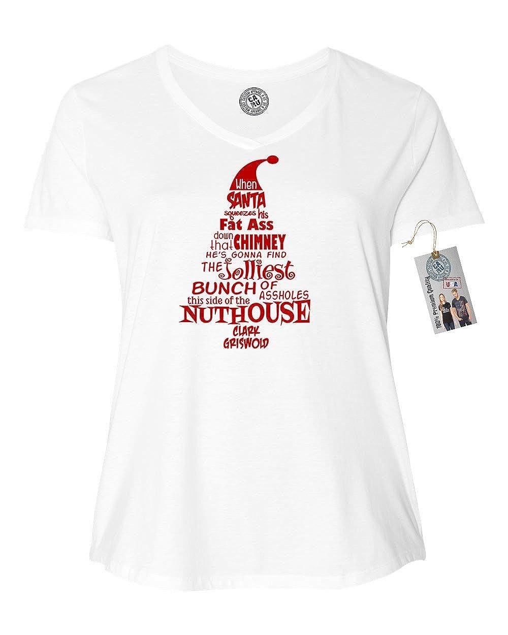 Custom Apparel R Us Christmas Vacation Nuthouse Plus Size Women V Neck T-Shirt