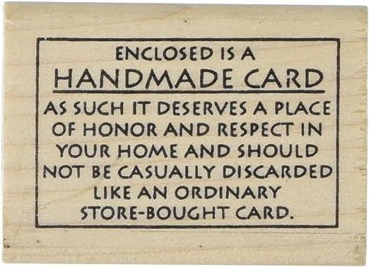 Handmade in Rubber Stamp Scrapbook Customs Pennsylvania