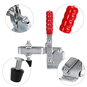 Skelang 3-Pack Vertical Toggle Clamp 12130 Quick Release Hand Tool Clamp With 500lbs Holding Capacity (Tamaño: 3 Packs)