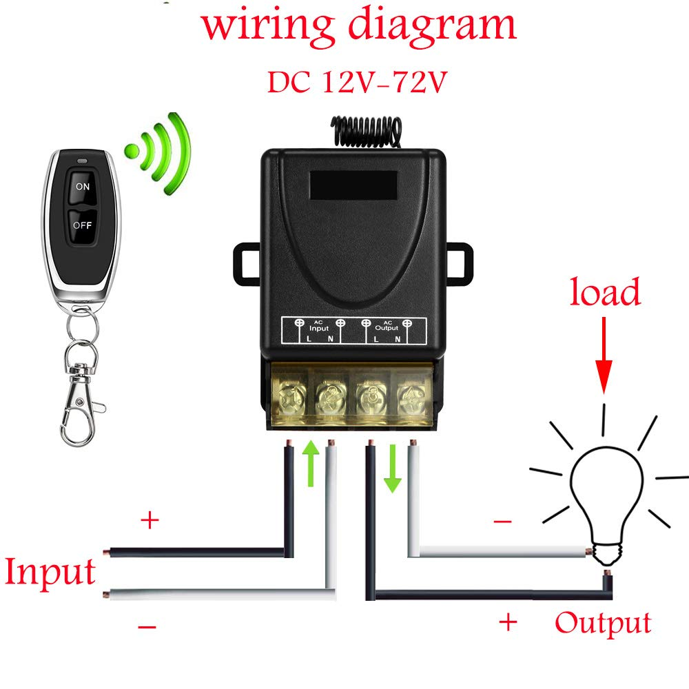DONJON Wireless Remote Switch for Household Appliances Pump,110V-240V Powerful Wirless RF Switch for Lights Ceiling Fans fixtures and Electrical Equipment white with 328ft Long Range.