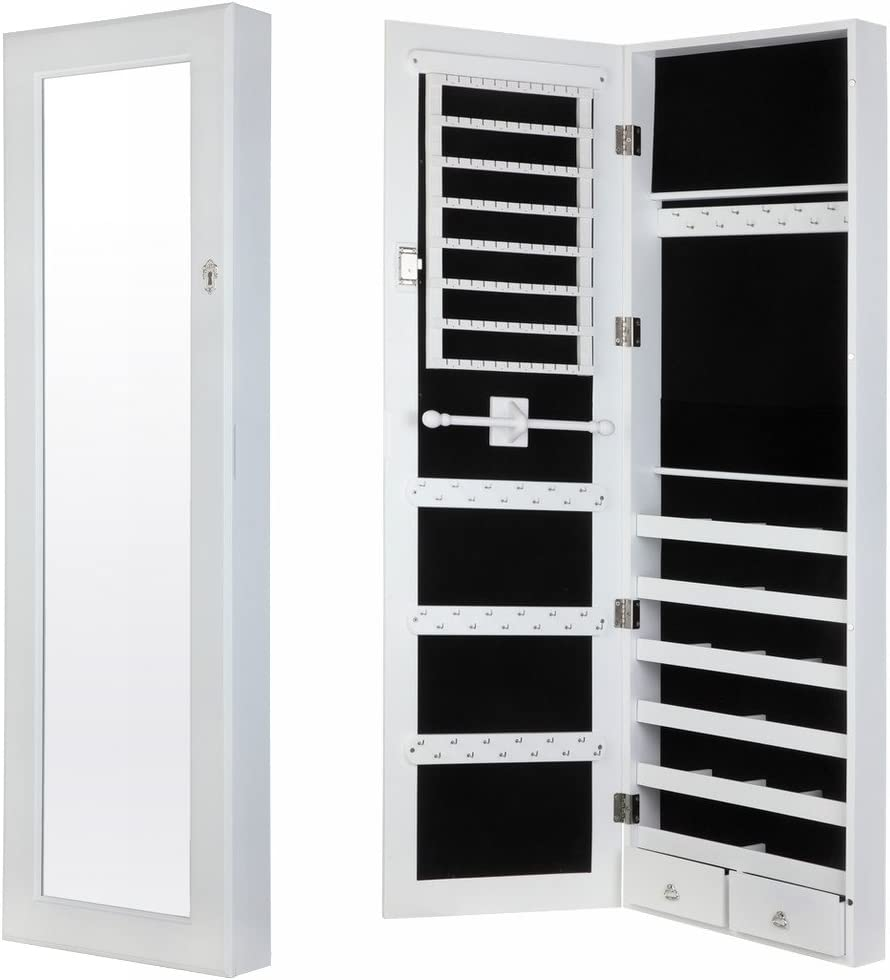 Homegear Modern Door/Wall Jewelry Cabinet